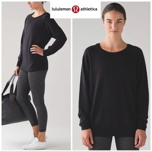 Lululemon Rising Salutation Wool Sweater In Black
